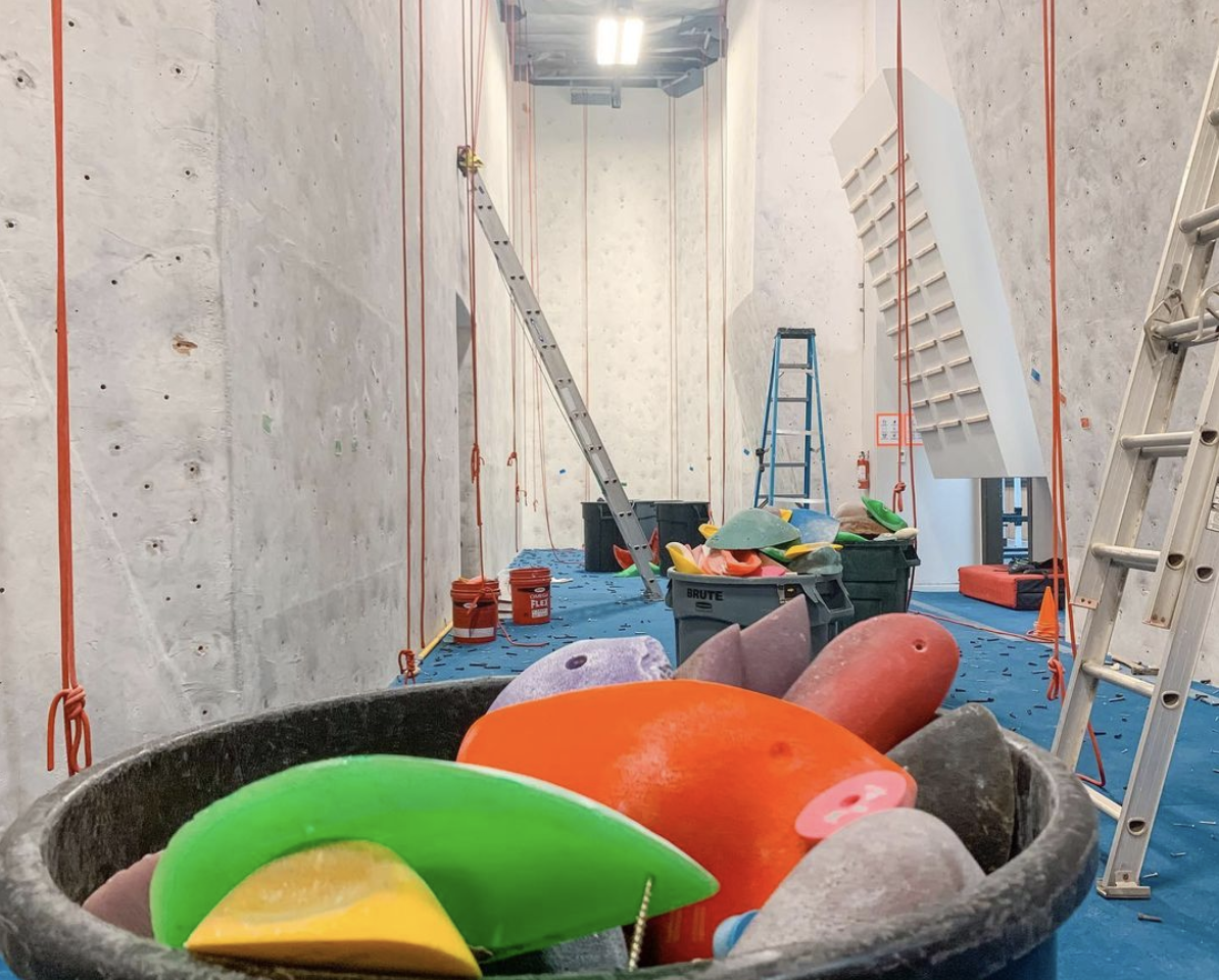 ACG top roping climbing gym area route reset March 5-7